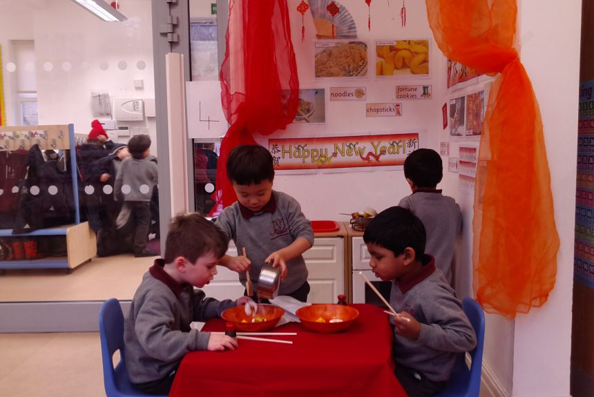 Celebrating Chinese New Year in Pre-School