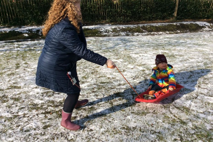 VIDEO and PHOTOS - APS Nursery boys having fun in the snow!