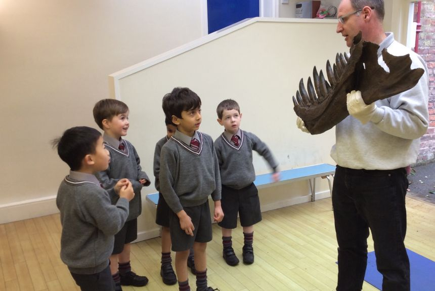 Year 1 Visit from Dino Mike - 1E