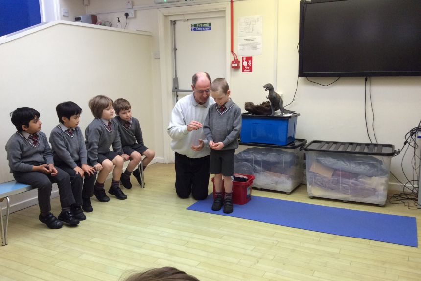 Year 1 Visit from Dino Mike - 1A