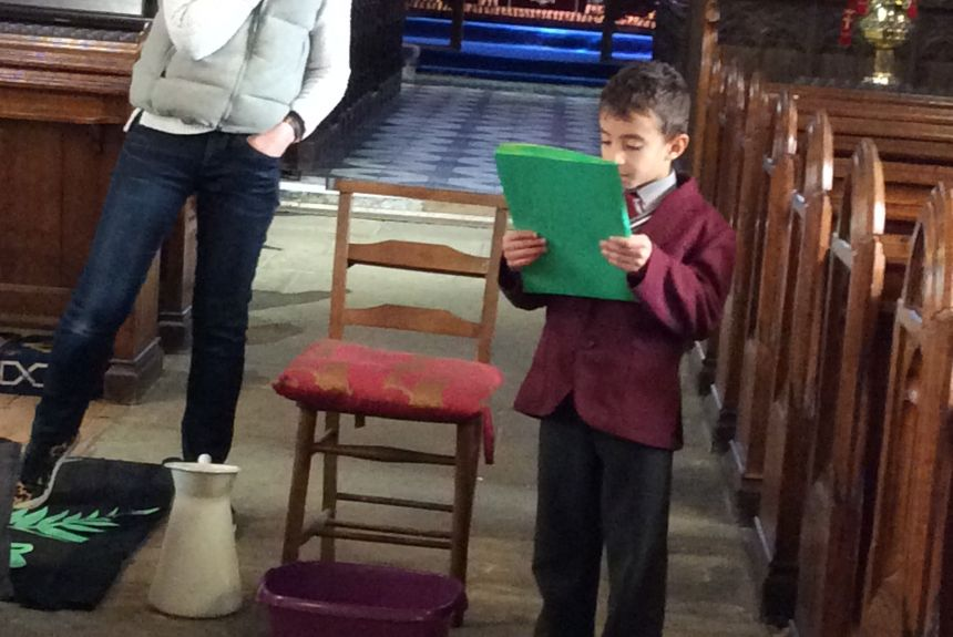 Year Two visit St Mary's for a special Easter experience