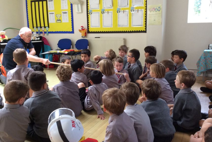 Year 1 visit from RNLI