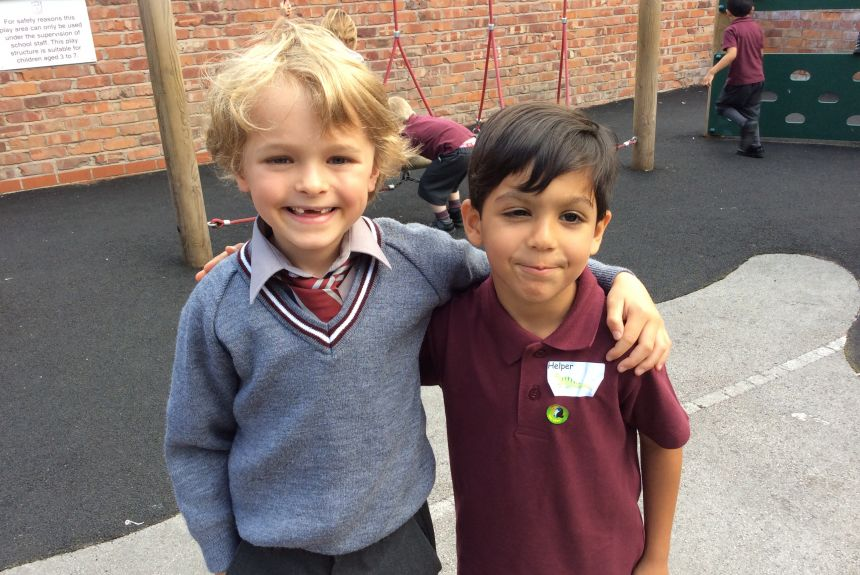 Reception met their special Year 2 friends