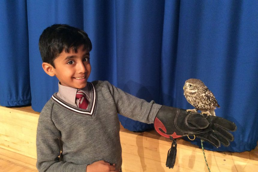The Wise Owl flies in to meet Year 2!