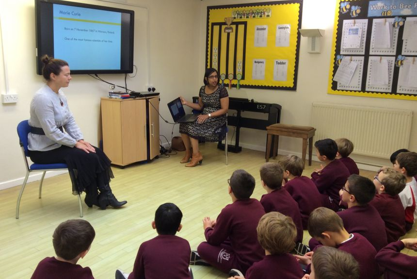 Year 2 learn about Marie Curie and her work developing a theory of radioactivity.