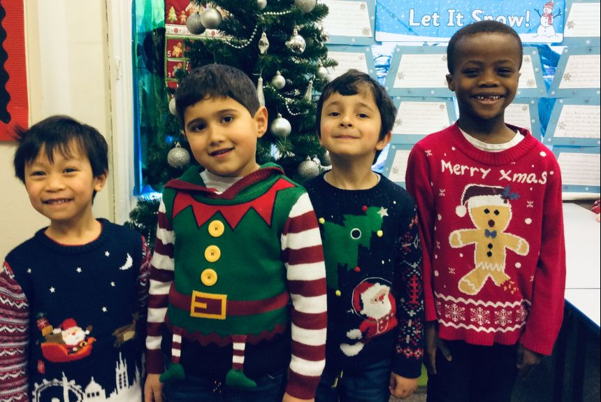 Christmas jumper day Year 1