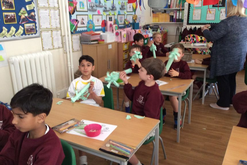Year 2 act out the Easter Story