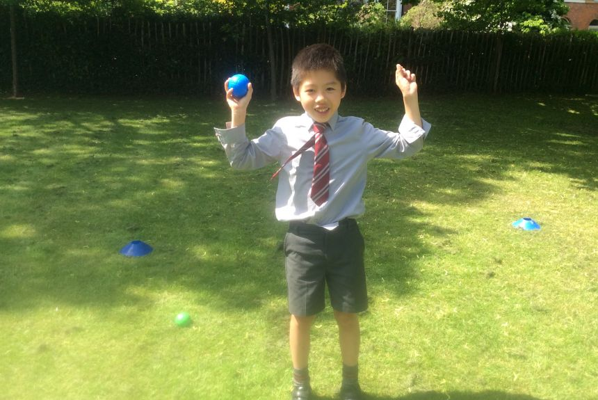 Boules on Bell Field for 1E!