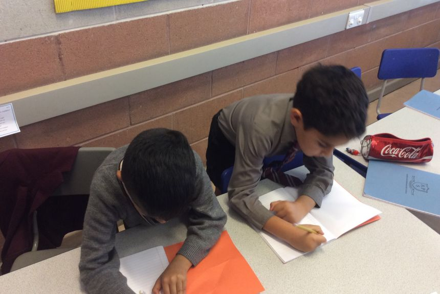 Year 3 test their knowledge on Place Value with a paired activity.