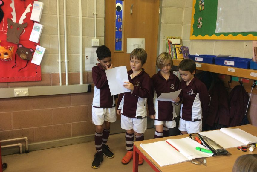 Year 3 learn to perform poetry