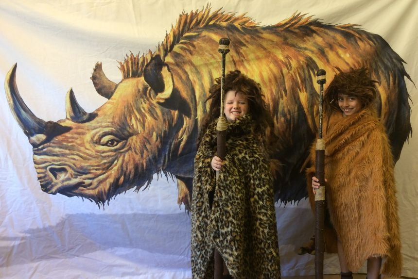 Year 3 go back to the Stone Age.
