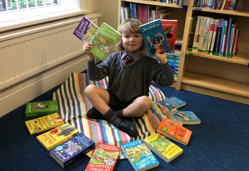 A BIG 'Thank You' to Hadrian for our wonderful new library books