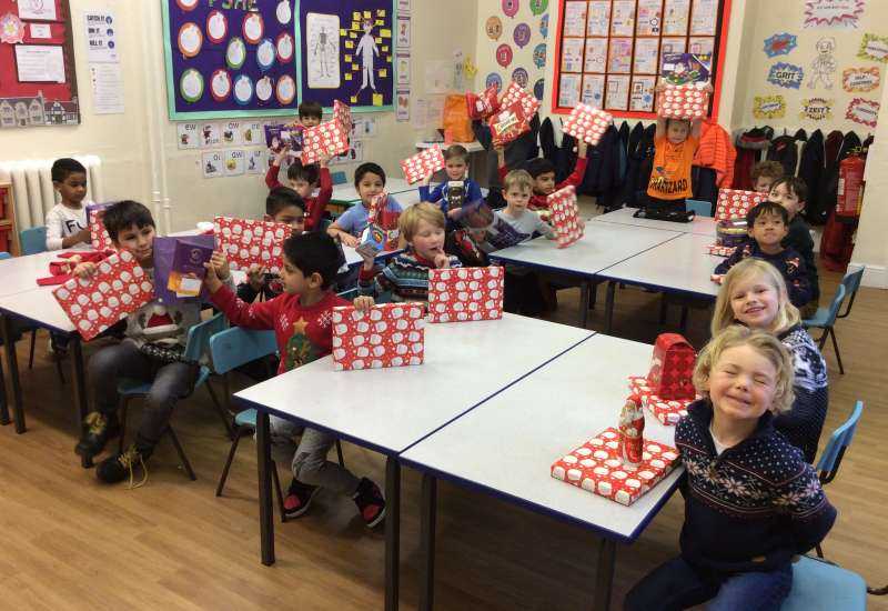 Christmas activity day in Year 1