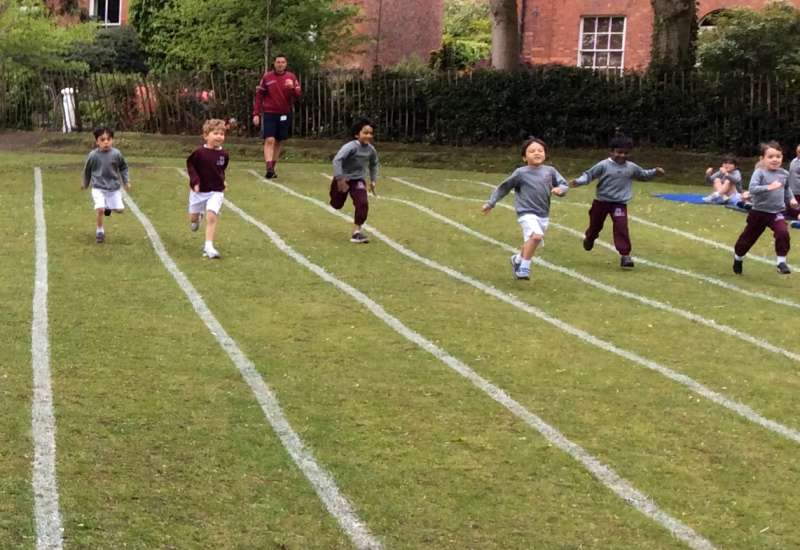 Reception Sports Day practice
