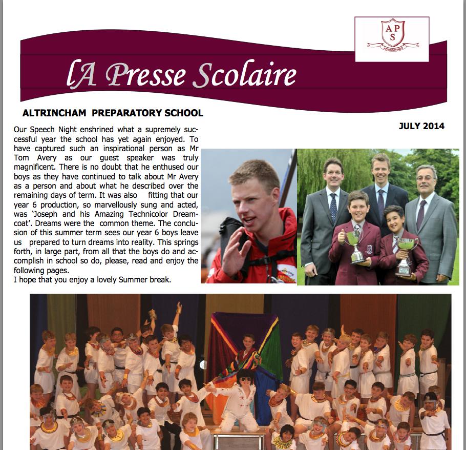 La Presse Scolaire Summer 2014