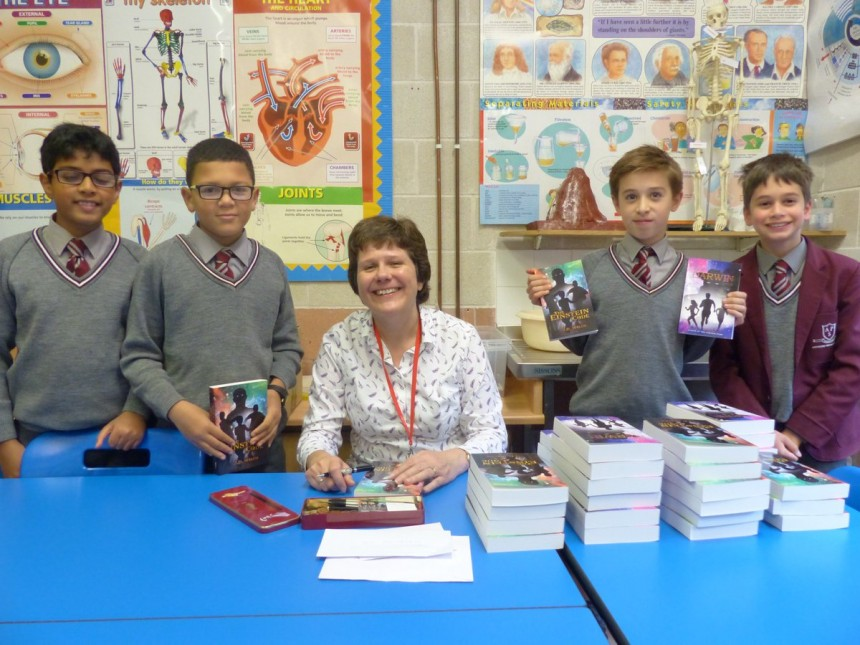 Author Jo Welch speaks in code for APS boys