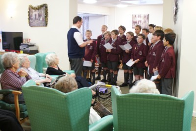 APS boys sing carols for residents of Handsworth