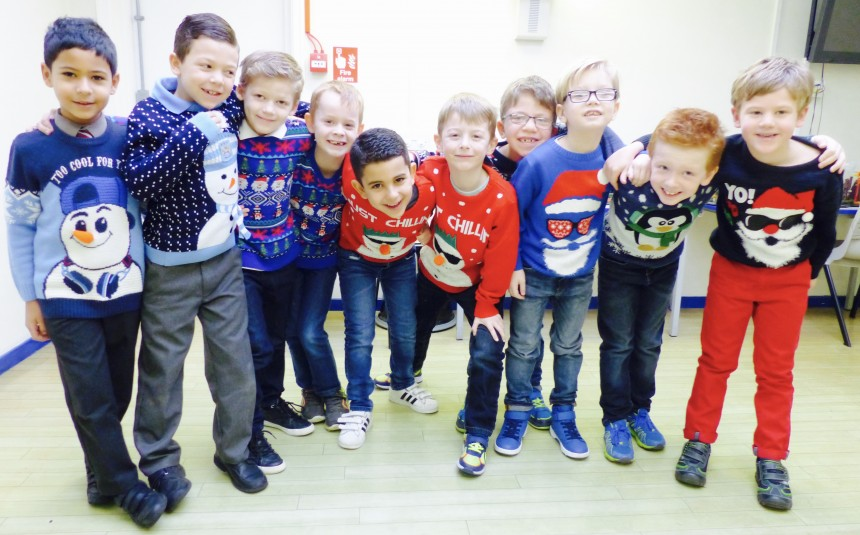 Rudolf the Red Knitted Reindeer: Christmas Jumper Day At APS