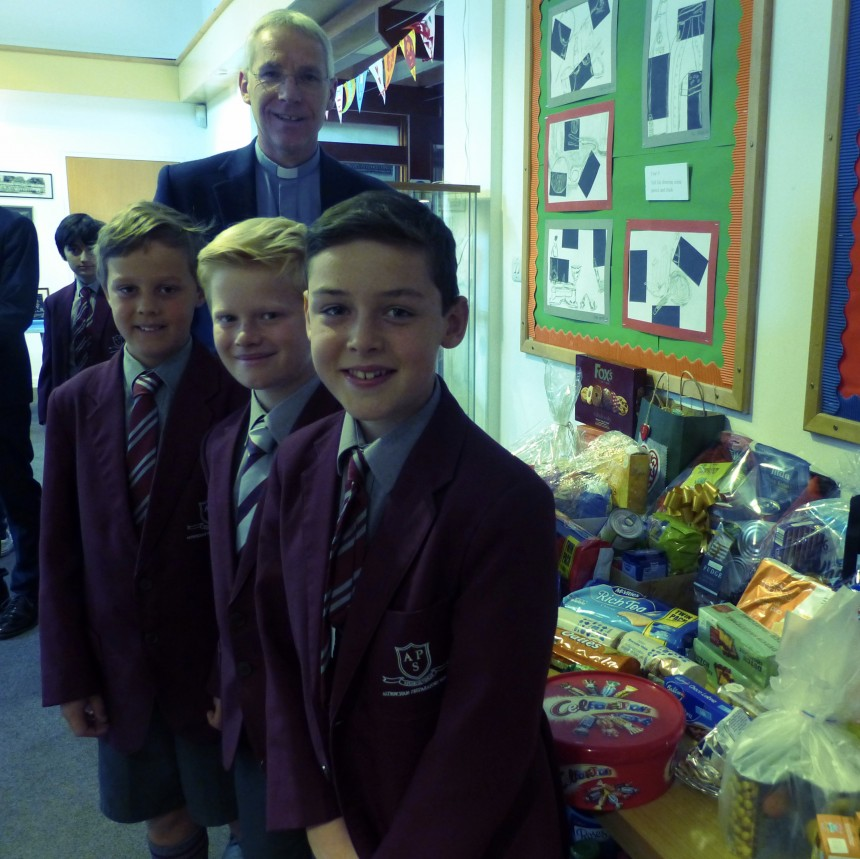 Harvest collection for Wood Street Mission helps children at Christmas