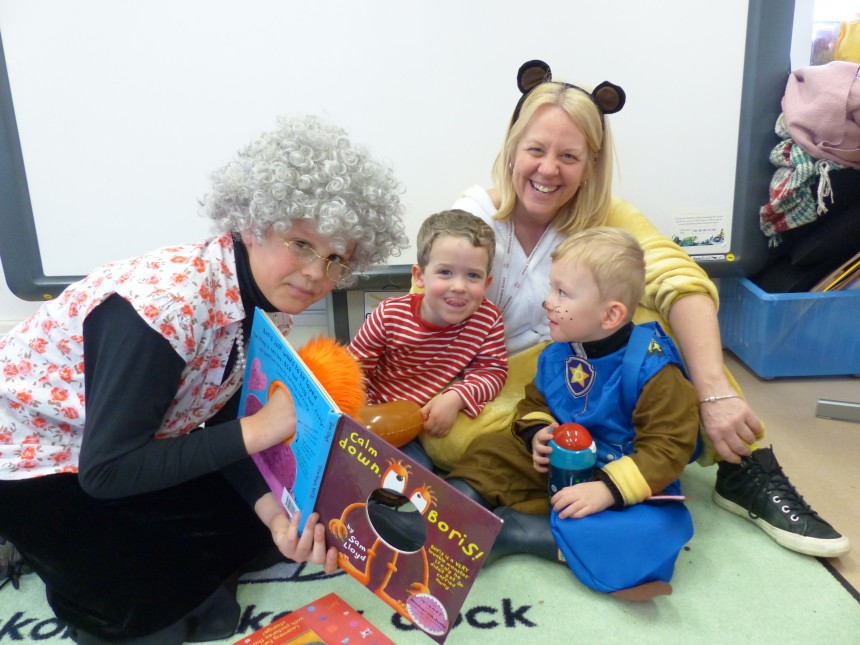World Book Day brings together youngest and oldest APS boys in a love of reading