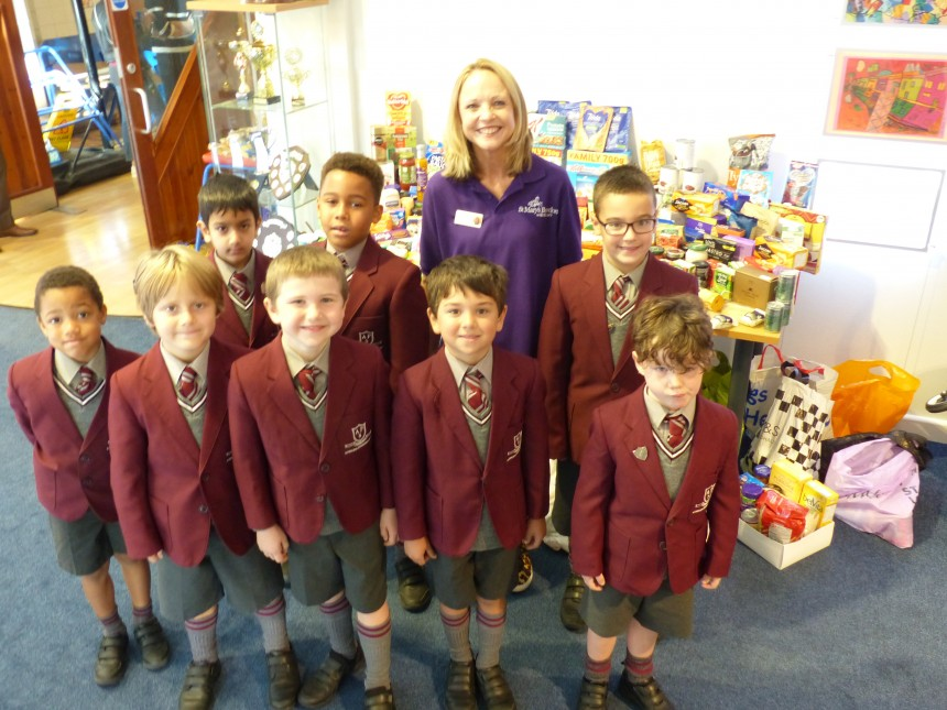 APS boys help Manchester children as part of Harvest celebrations