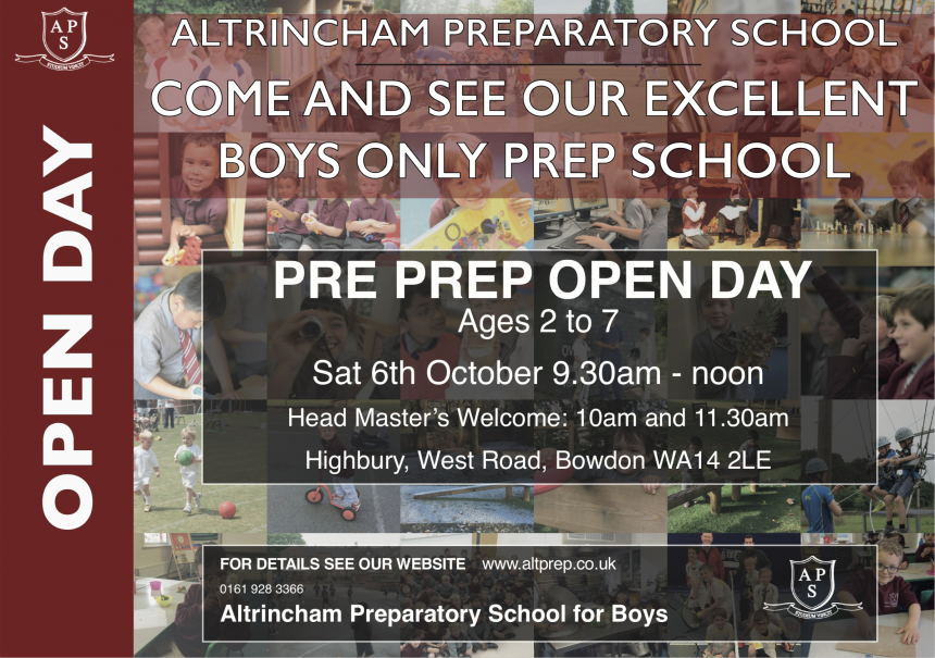 Pre Prep Open Day Sat 6th Oct