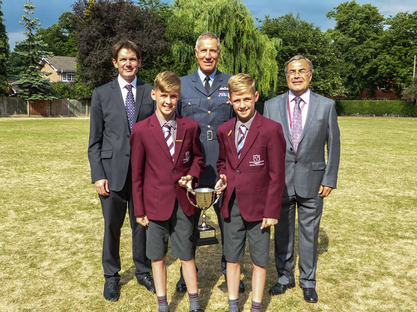 Fastest man on earth delights Altrincham Preparatory School boys at Speech Night